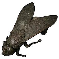 Antique bronze fly sculpture, Victorian
