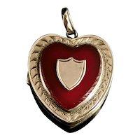 Art Deco 9ct gold heart locket