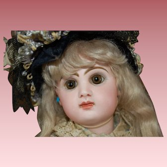 French doll size 7 TETE JUMEAU in her all original couture costume.