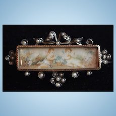 Little brooch of 19th century for antique doll
