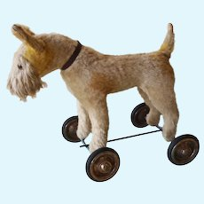 Vintage  dog with wheel