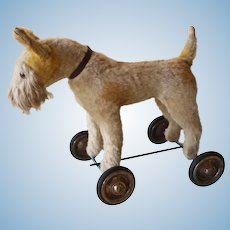 Vintage  dog with wheel