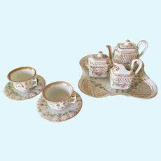 Noble tea set  1890 for noble antique doll