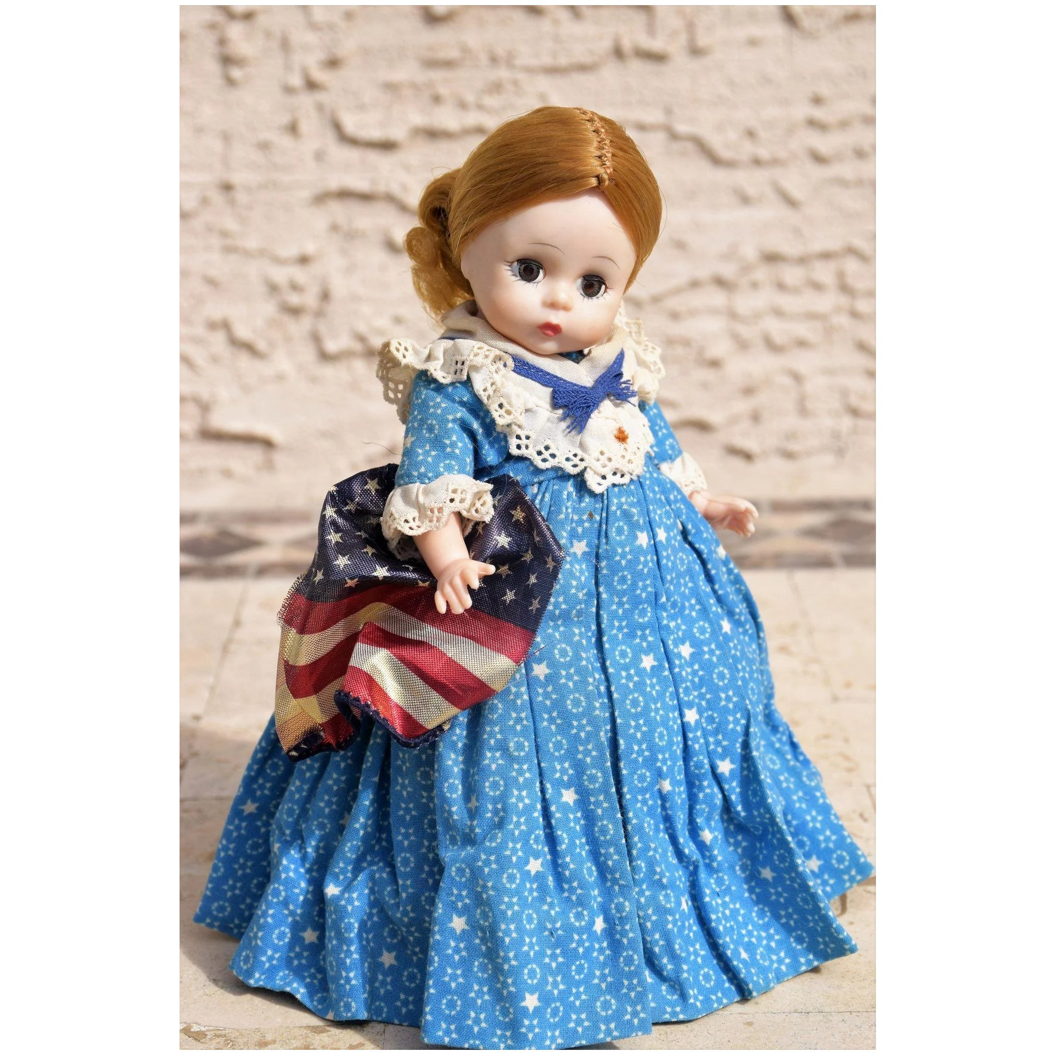 Betsy Ross Vintage Madame Alexander Hard Plastic Bent Knee With Doll Heaven Ruby Lane