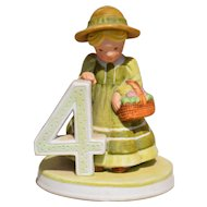 """Holly Hobbie Figurine #4 from the """"Birthday Collection"""""""