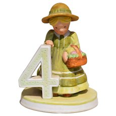 "Holly Hobbie Figurine #4 from the ""Birthday Collection"""
