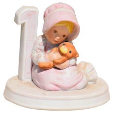 """Holly Hobbie Figurine #1 from the """"Birthday Collection"""""""