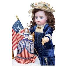 Wonderful Patriotic Doll Pin Cushion with Scissors -2011 UFDC Convention Souvenir
