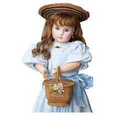 Darling Steiner with Pretty Summer Cotton Dress & Bonnet - All Antique