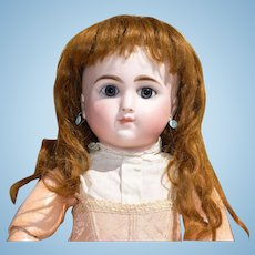"""Antique Auburn French Mohair Wig for an 11"""" head circumference (approx. 20"""" bebe)"""
