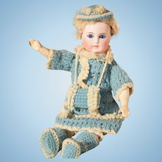 10% OFF - Sonneberg Doll in All-Original Elaborate Knit Costume