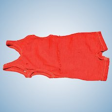 Wonderful Authentic Red Wool Bathing Suit - Child's size from the 1890's