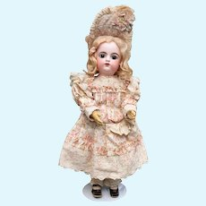 """Gorgeous Floral Damask Cotton Dress with Pink Roses for a 24"""" Doll"""