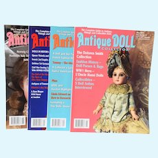 4 Antique Doll Collector Magazines May, June, July, Aug 2019