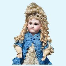 Outstanding Schmitt et Fils French Bebe Doll in Paris Couture Dress