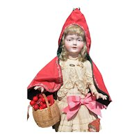 Factory Original Bruno Schmidt 529 with basket - RARE and Fabulous! Character German Antique Doll