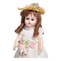 """Rare 10"""" Petite Size """"Bru"""" Sonneberg with Closed Mouth"""