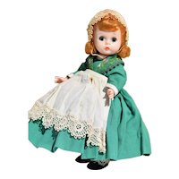 Alexander-kin Irish Girl, Bent Knee Walker 1960's - Madame Alexander Doll with Stand
