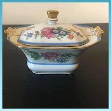 Decor Par Limoges Fine French Porcelain Jewelry Box W Lid  Decorated w/ Elegant Flowers Circa 1905
