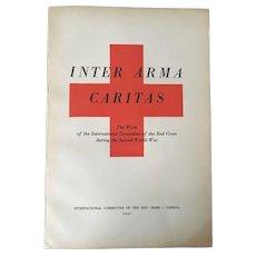 Vintage Paperback Textbook International Committee of Red Cross -Inter Armas Cariatas C.1947