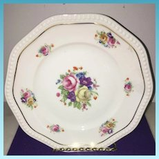 Vintage Bavaria Germany Philip Rosenthal & Co. Ivory Floral Charger Plate Circa 1919-1935