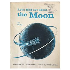 "Early Reader's Scholastic First Printing ""Lets Fin Out about The Moon"" By Martha & Charles Shapp C. 1965"