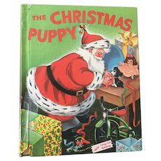 "Early Reader's Wonder Books ""The Christmas Puppy"" By Irma Wilde C. 1965"