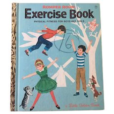 "Vintage Hard Cover Little Golden Book ""Romper Room Exercise Book"" By Nancy Claster Copyright 1964"