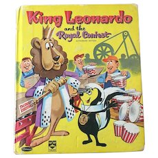 "Early Reader's Whitman Hardcover ""King Leonardo & the Royal Contest"" By Eileen Daly C. 1962"