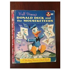 """Hard Cover Mickey Mouse Club Walt Disney's """"Donald Duck & The Mouseketeers"""" Copyright 1956"""