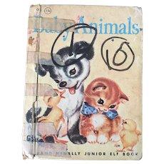 "Early Reader's Rand McNally Hardcover ""Animal Babies"" By Naoma Zimmerman C. 1955"