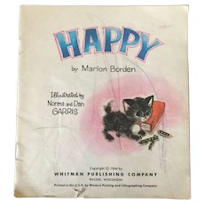 "Vintage Rare Soft Cover "" Happy"" By Marion Borden C. 1964"