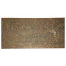 """19th Century  """"Falmouth 36"""" Custom Cast Iron Stove Company Door Portland Maine"""