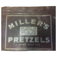 "Vintage Advertising Tin 'Miller's Pretzel Company""  Allentown, Pennsylvania circa 1950"