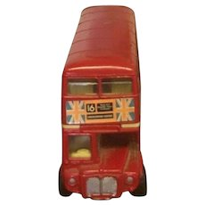 "Vintage Corgi English Toy Double Decker Bus "" The London Standard"" Circa 1986"
