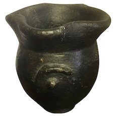 Vintage African Art Pottery Hand Crafted in Mali Circa 1960's