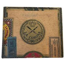 Vintage Pre-Embargo Havana Cigar & Tobacco Company Wooden Cigar Box  C. 1930