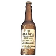 Vintage Breweriana Haig Whiskey advertising  Drop Down Bottle Opener Circa 1950's