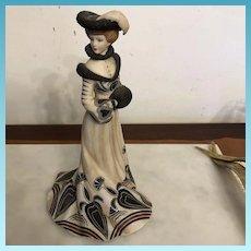 """Vintage Lenox Collection  """"Tea At The Ritz"""" Fine Porcelain Figurine C. 1980's"""