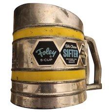 Foley  Flour Sift Chine Triple Screen Mechanical Vintage Grater C. 1940's
