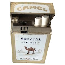 Vintage Advertising Collectible Camel Special Lights Mild Blend Box Lighter