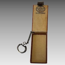 Vintage  West German Lightweight Soft Leather Key Ring & Mini Wallet C. 1949