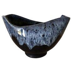 Vintage Colorado Springs signed Anna Van Briggle Black Cornucopia Ceramic Vase C. 1953