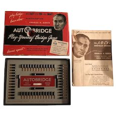 "Vintage Auto Bridge ""Play it Yourself"" Game Circa 1950's"