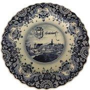 Large 18th Century Delft Blue & White Handgemalt Plate