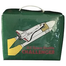Rare Vintage 1986 Vinyl US Challenger Lunchbox