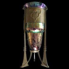 Art Nouveau Loetz Oil Stain Austrian Art Glass Vase
