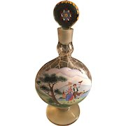 Early 20th Century Czechoslovakian Hand Painted Specialty Bottle