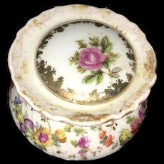 19th Century Dresden Hand Painted  Miniature Vanity  Box