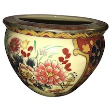 Early 20th Century Hand Painted Imari Style Ornate Porcelain Pot